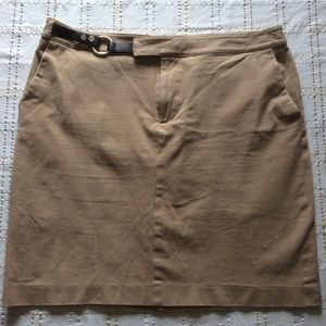 Chaps Tan Straight Skirt, S